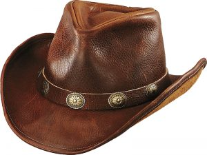 Holland Hats Henschel U Shape It Full Grain Leather Western Fedora brown