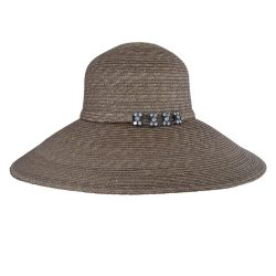 Holland Hats Betmar Lei Chow Straw Picture Brim Sun Hat Nat