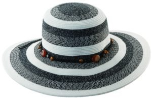 Holland Hats Callanan Heathered Braid w/Macrame Cord Black