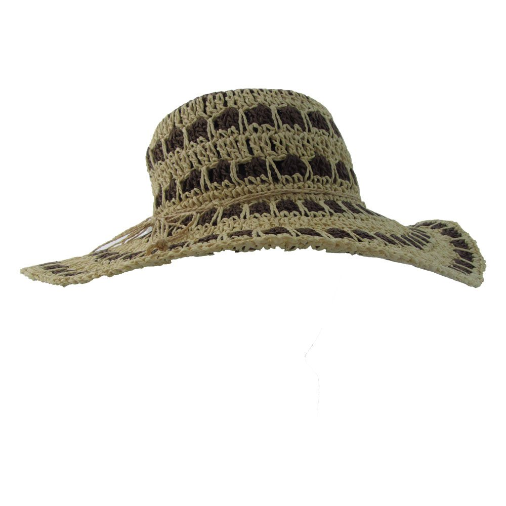 Holland Hats Kathy Jeanne Broad Brim Weave Sun Hat brown