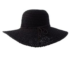 6dee0f2879399 Holland Hats Kathy Jeanne Vented Sun Brim with Leather Trim Blk