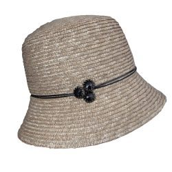 Holland Hats Lei Chow Straw Cloche by Betmar natural