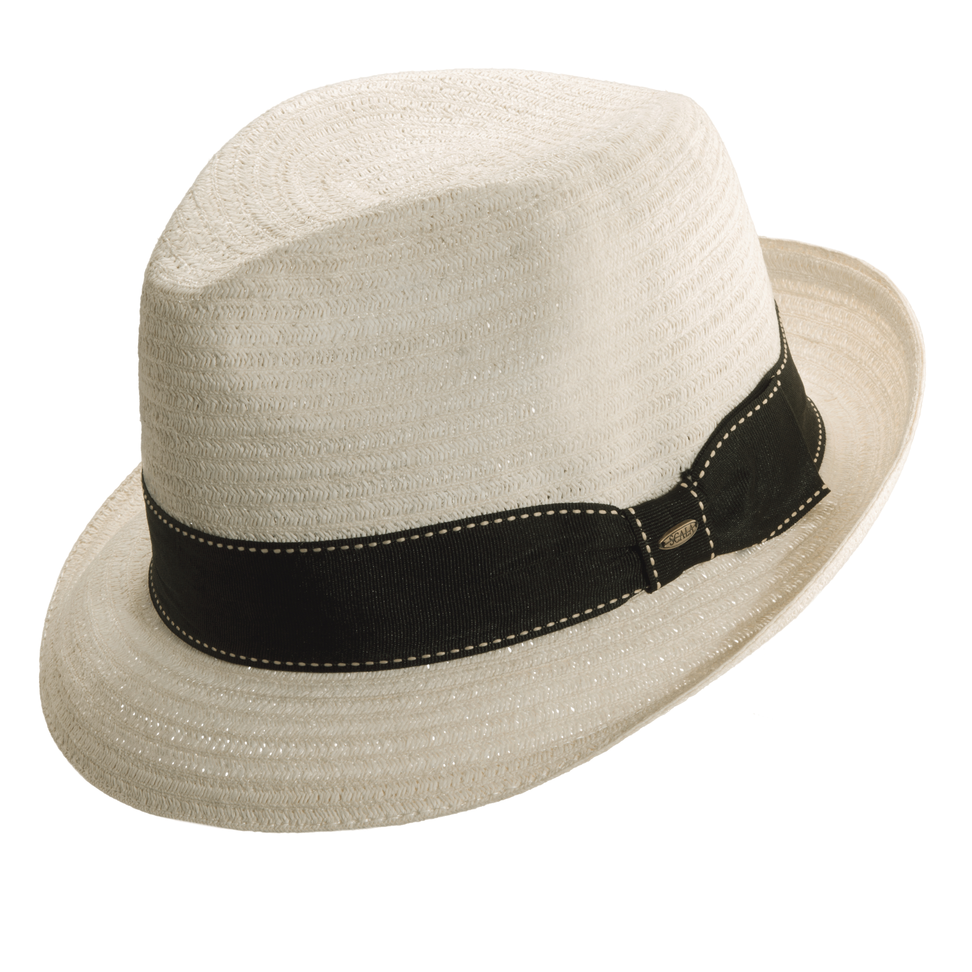 e305dd0d75ce69 Scala Classic Summer Braided Fedora Hat - Holland Hats