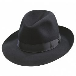 Holland Hats Borsalino Como Black